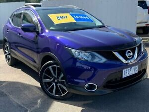 2016 Nissan Qashqai J11 TI Blue 1 Speed Constant Variable Wagon Lilydale Yarra Ranges Preview
