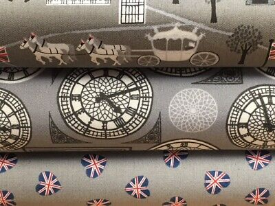 Lewis and Irene 'Britannia' Collection 100% Cotton fabric Fat Quarter, Half o...