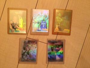 Five mint 1992-93 Upper Deck Basketball Award Winners holograms