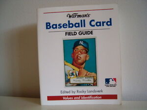 Warman's BASEBALL CARD Field Guide values and identification.