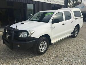 2009 Toyota Hilux MY10 SR 4X4 White 5 Speed Manual Dual Cab Biggera Waters Gold Coast City Preview