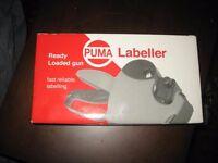 PUMA labeller - ready loaded gun