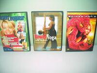 3 dvd Josée  Lavigueur  Yoga  Spider Man