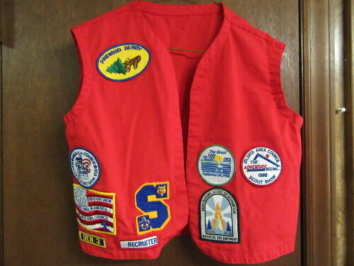 Atlanta Area Council Red Boy Scout Vest with Patches         eb19