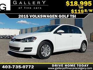 2015 Volkswagen Golf TSI $119 bi-weekly APPLY NOW DRIVE NOW