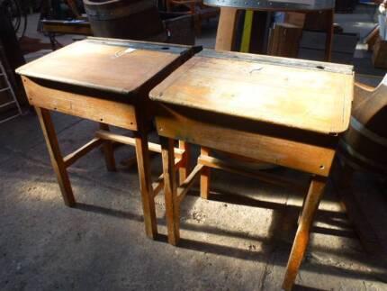 Vintage Timber School / Student desks - 2 for sale Stawell Northern Grampians Preview