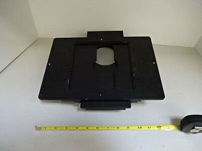 Microscope Parts Leica Reichert Polyvar Specimen Stage Table Optics As Is Tc-1-y