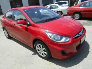 2012 Hyundai Accent RB Active Red 5 Speed Manual Sedan Woodville Charles Sturt Area Preview