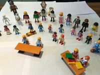 large collection of Playmobil characters and accessories, 16 kids & 14 adult figures