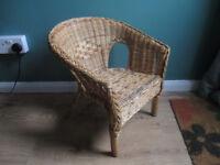 Child's vintage wicker chair