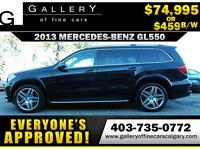 2013 Mercedes GL550 4MATIC $459 bi-weekly APPLY NOW DRIVE NOW