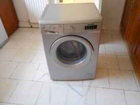 USED RE-FURBISHED BUSH 8KG, 1400 SPIN, A++ RATED WASHING MACHINE IN SILVER, 18 MONTH`S OLD, EX-COND