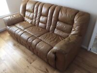 House Sale - 3 seater sofa, 1 seater recliner and Dining table / 5 chairs and Bed
