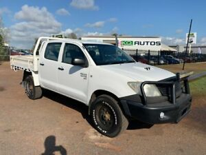 2011 Toyota Hilux KUN26R MY10 SR White 5 Speed Manual Cab Chassis Durack Palmerston Area Preview