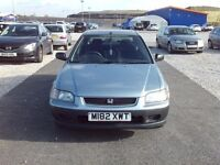 0nly £195 HONDA CIVIC 1.4i low miles one owner runs lovely! LOW Insurance, cheap cheap cheap !