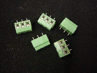 AUGAT 5ULV-03 Fixed Terminal Block 3-Pos Side-Entry 5mm **NEW** 5/PKG ()