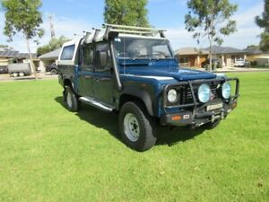 2001 Land Rover Defender 130 (4x4) Blue 5 Speed Manual 4x4 Crew Cab Chassis