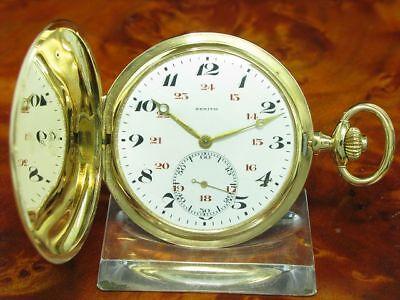 Zenith 18kt 750 Gold Savonette Sprungdeckel Taschenuhr