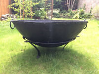 Large Indian Fire Bowl For Sale