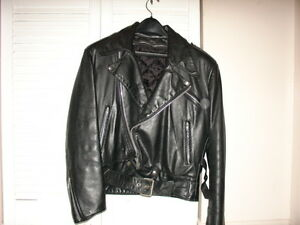 Leather Craft brand biker-style leather jacket