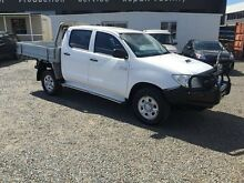2011 Toyota Hilux KUN26R MY10 SR White 5 Speed Manual Cab Chassis Rocklea Brisbane South West Preview