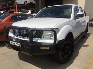 2009 Nissan Navara D40 ST White 6 Speed Manual Utility Sandgate Newcastle Area Preview