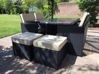 Rattan cube set, Rattan garden furniture