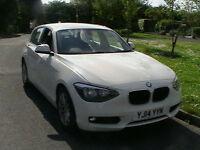 2014 14 REG BMW 116d DIESEL EFFICIENTDYNAMICS 5 DOOR HATCHBACK IN WHITE