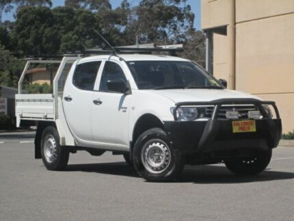 2009 Mitsubishi Triton ML MY09 GLX Double Cab White 4 Speed Automatic Cab Chassis Blair Athol Port Adelaide Area Preview
