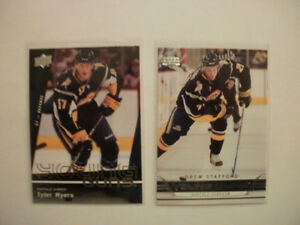 Tyler Myers and Drew Stafford Young Gun hockey cards