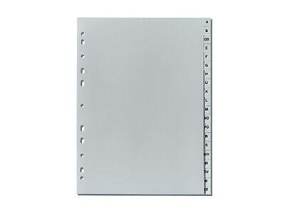 10 x Falken Plastik-Register A-Z PP-Folie DIN A4 volle Höhe , Buchstabenregister