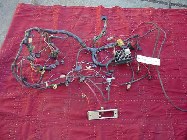 1963 BUICK RIVIERA DASH WIRING HARNESS WITH FUSE BOX AC CAR NICE SHAPE