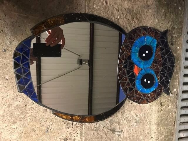 OWL MIRROR AND OWL PICTURE -WILL SPLIT - EXCELLENT CONDITION