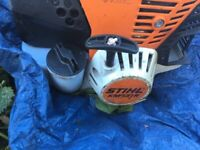 Stihl KM131R Kombi Tool w/ Pole Hedge Trimmer, Strimmer and Blower attachments, almost new