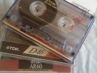 TDK CASSETTE TAPES FOR SALE, MOST TYPES AND LENGTHS FROM CASSETTEQUE.