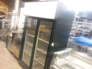 Double sliding doors cooler ! 100% cold working condition! Save!