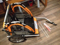 Double Bike trailer (Literally only used twice - almost BRAND NEW) Worth £100 Spotless