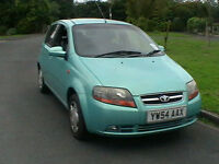 54 REG DAEWOO KALOS 1.2 XTRA COOL 5 DOOR HATCHBACK GREAT FIRST CAR HPI CLEAR
