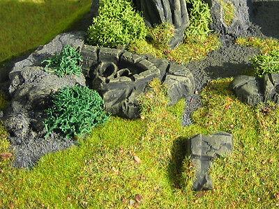 8 piece Stone Ruins Set Thomarillion Unpainted Ceramic Dwarven Forge D&D
