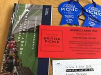 2 x picnic package tickets to Epsom Investec ladies day - Friday 1st June 2018