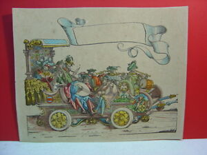 18th-or-19th-Century-Hand-Colored-8-Musician-Bandwagon-Chain-Laid-Paper-Print