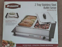 Bravetti Stainless Steel Buffet Server with 2 warming trays- New