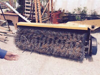 Sweeper attachment for 3 point hitch