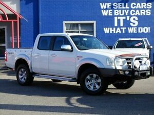 2007 Ford Ranger PJ XLT Crew Cab White 5 Speed Automatic Utility Welshpool Canning Area Preview