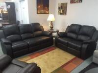 BRAND NEW LEATH-AIR 3 PC RECLINING SOFA, LOVE SEAT AND CHAIR