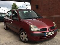 Renault Clio 1.2 16v Expression 5dr GENUINE WARRANTED LOW MILEAGE