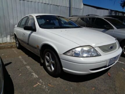 2001 Ford Falcon Auii Forte White 4 Speed Automatic Sedan
