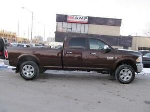 "2014 Ram 3500 4x4 DIESEL 8ft Crew Leather 20""rims Clean Laramie!"
