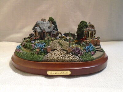 Springtime Lamp (Thomas Kinkade Springtime Splendor Hawthorne Lamp Light Village Sculpture )