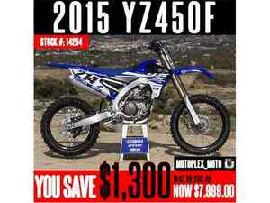 2015 Yamaha YZ450F @ Blowout Pricing